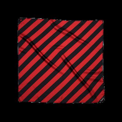 BANDIT SILK SCARF BIGBINAIRE RED & BLACK