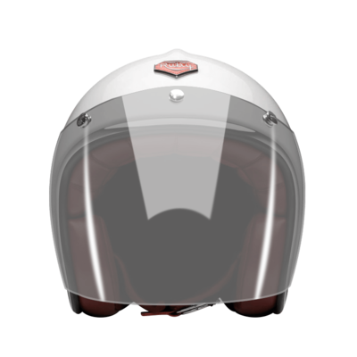 OPEN FACE HELMET VISOR LIGHT SMOKE