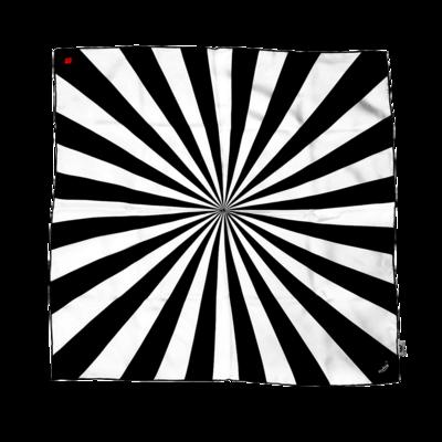 BANDIT SILK SCARF SHINING BLACK & WHITE