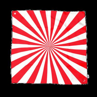 BANDIT SILK SCARF SHINING WHITE & RED