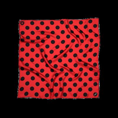 BANDIT SILK SCARF POLKA RED & BLACK