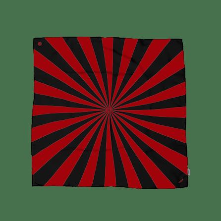 BANDIT SILK SCARF SHINING BLACK & RED