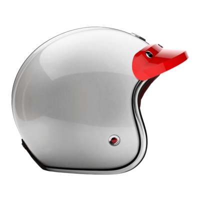 OPEN - FULL FACE PEAK VISOR LAQUERED GLOSSY RACING RED