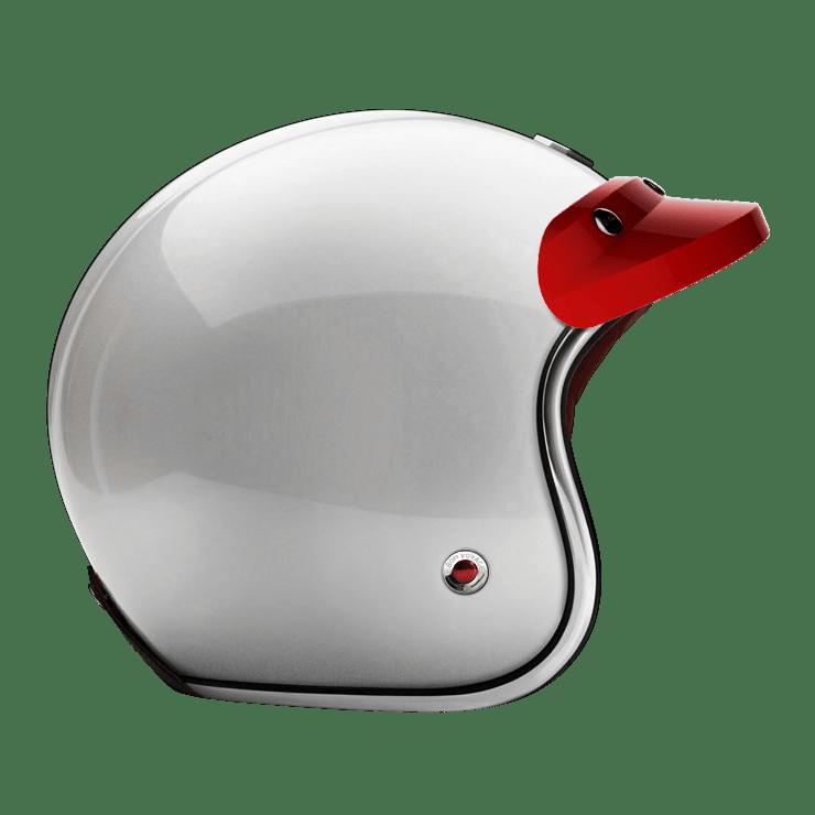 OPEN - FULL FACE PEAK VISOR LAQUERED GLOSSY RED HEROLD