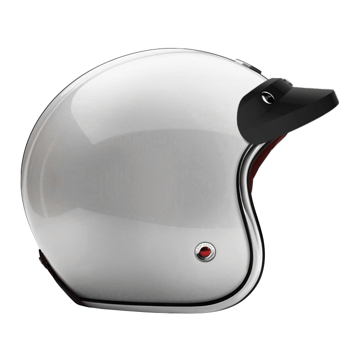 OPEN - FULL FACE PEAK VISOR LAQUERED GLOSSY BLACK