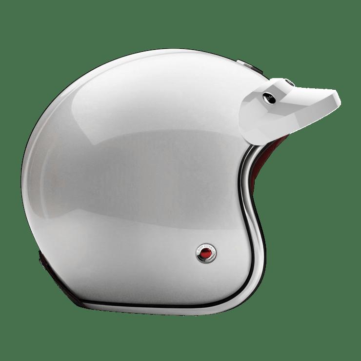 OPEN - FULL FACE PEAK VISOR LAQUERED GLOSSY WHITE