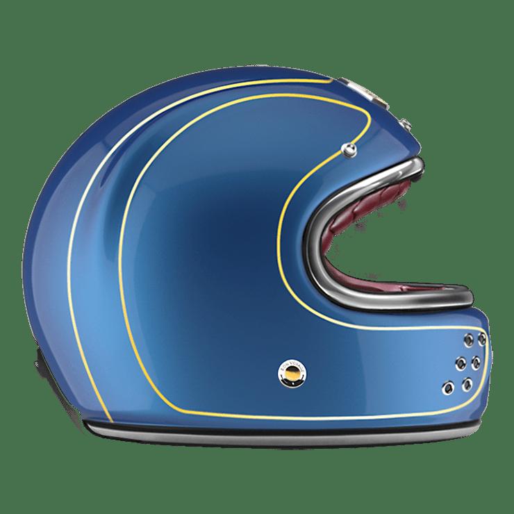 GUANG® - FULL FACE HELMET DETROIT BLUE