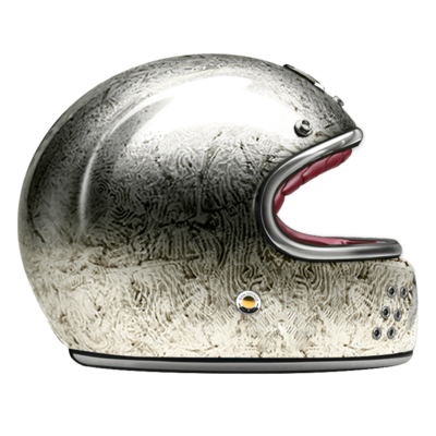 GUANG® - FULL FACE HELMET PACIFIQUE SILVER