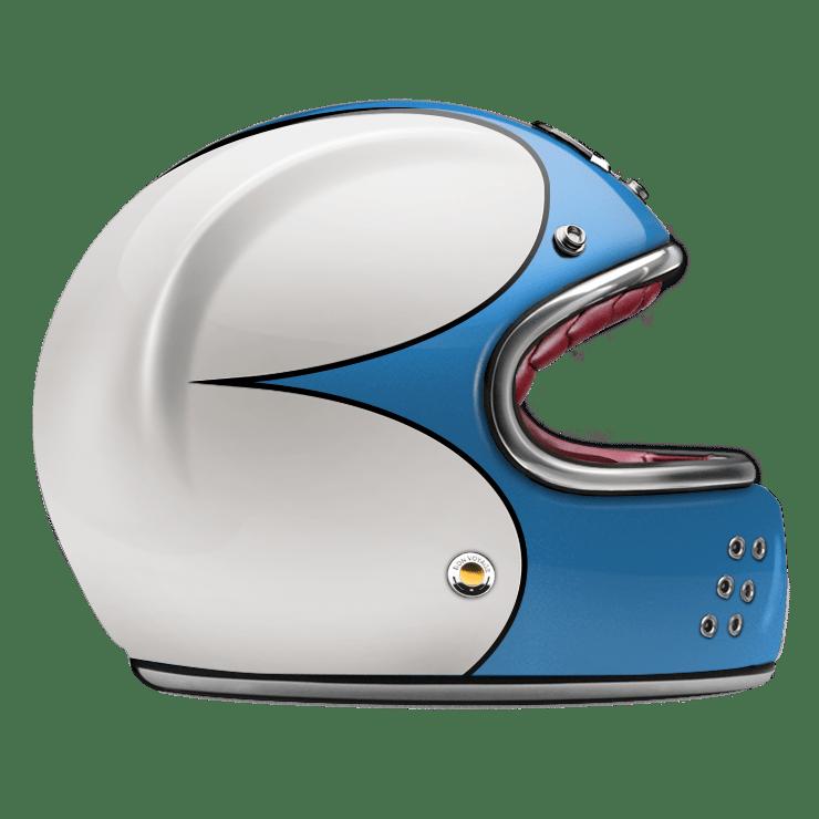 GUANG® - FULL FACE HELMET SPEEDRUN BLUE & WHITE