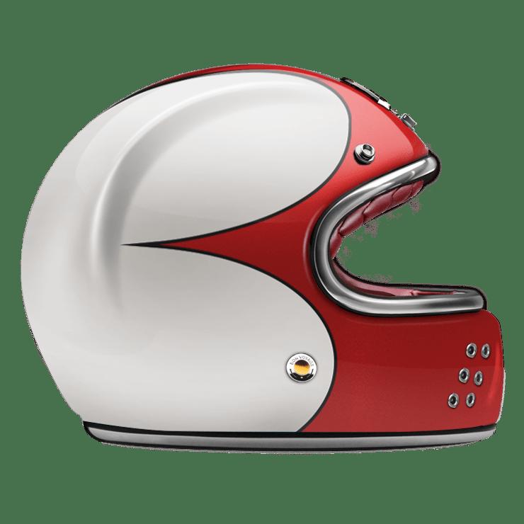 GUANG® - FULL FACE HELMET SPEEDRUN RED & WHITE
