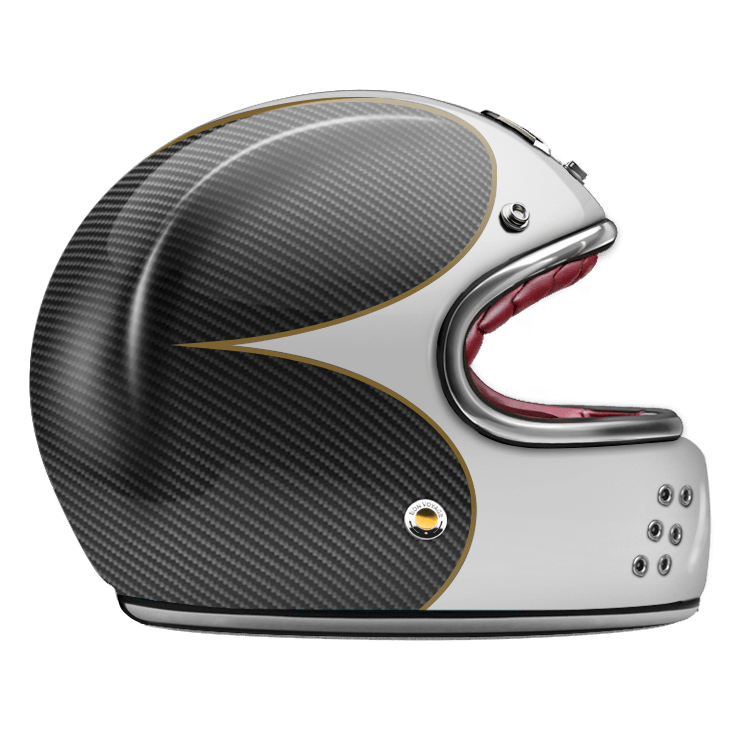 GUANG® - FULL FACE HELMET SPEEDRUN WHITE & CARBON