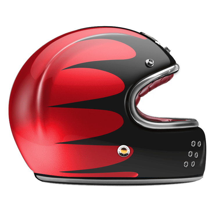 GUANG® - FULL FACE HELMET SPEEDRUN BLACK & RUBY