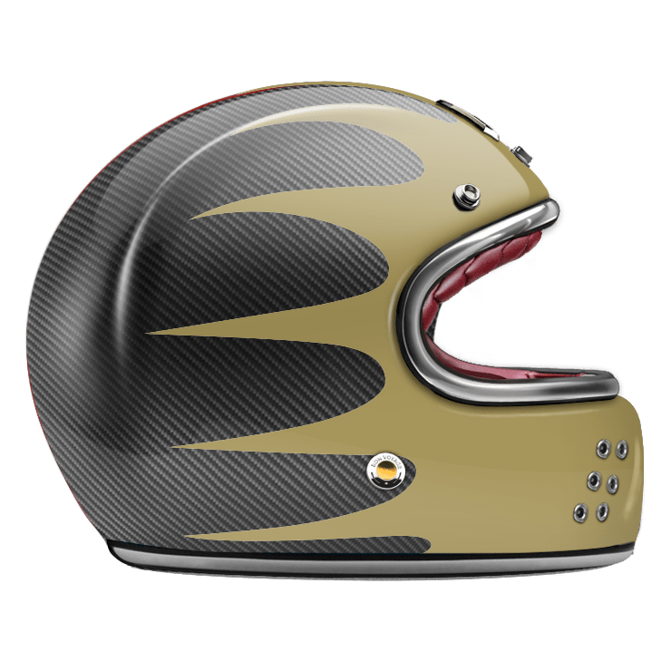 GUANG® - FULL FACE HELMET SPEEDRUN GOLD & CARBON