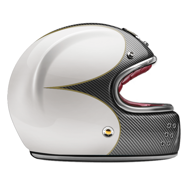 GUANG® - FULL FACE HELMET SPEEDRUN CARBON & WHITE