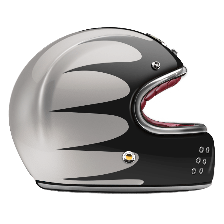 GUANG® - FULL FACE HELMET SPEEDRUN BLACK & SILVER