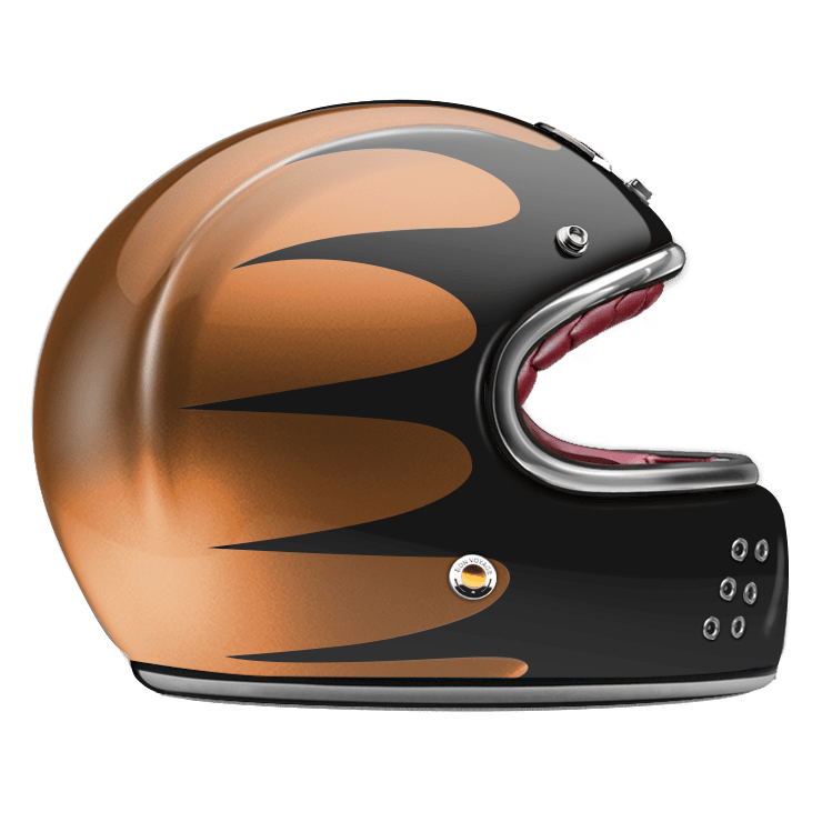 GUANG® - FULL FACE HELMET SPEEDRUN BLACK & COPPER