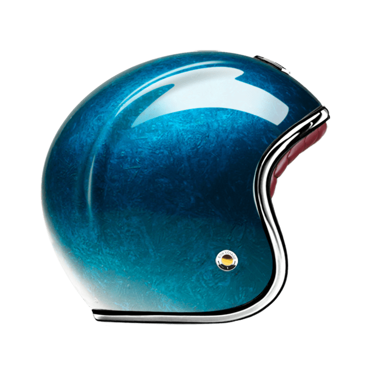 GUANG® - OPEN FACE HELMET PACIFIQUE BLUE
