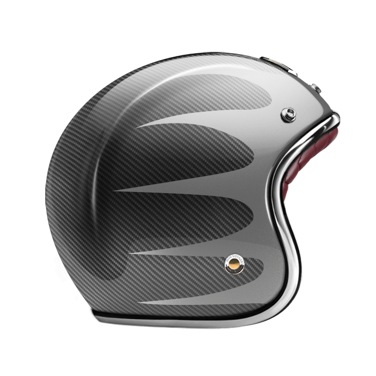 GUANG® - OPEN FACE HELMET SPEEDRUN GREY & CARBON