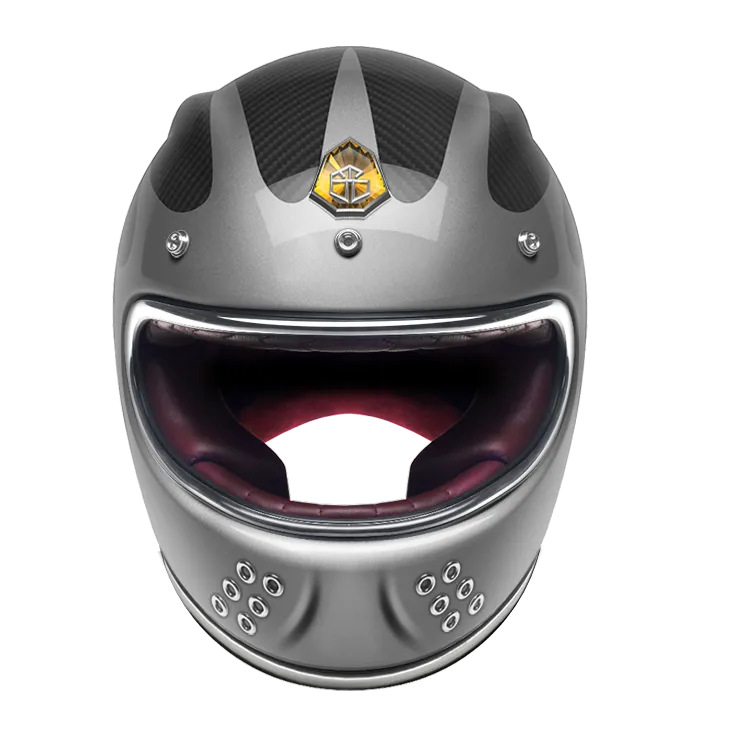 GUANG® - FULL FACE HELMET SPEEDRUN GREY & CARBON