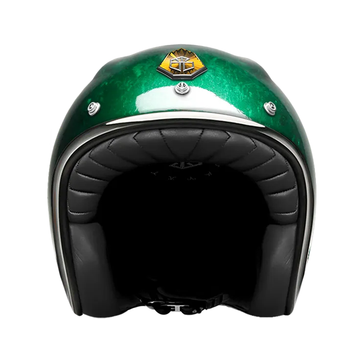 GUANG® - OPEN FACE HELMET PACIFIQUE GREEN
