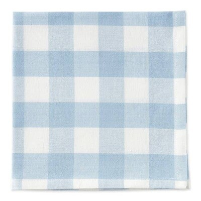Light Blue Gingham Napkin 20x20