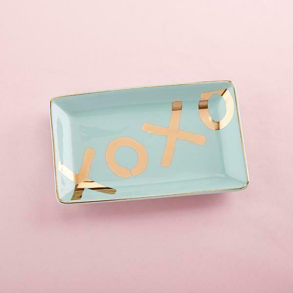 XOXO porcelain ring dish