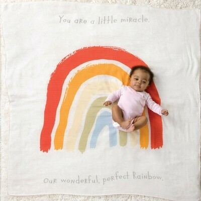 Rainbow Baby Swaddle/Photo Blanket