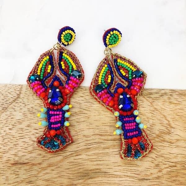 Colorful Lobster Earrings