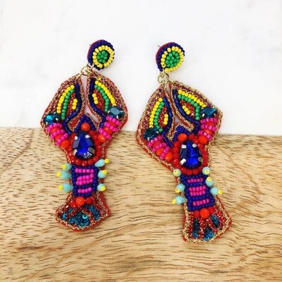 Colorful Lobster Earrings