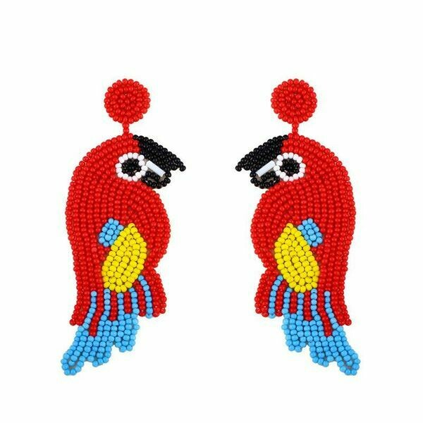 Red Parrot Earrings