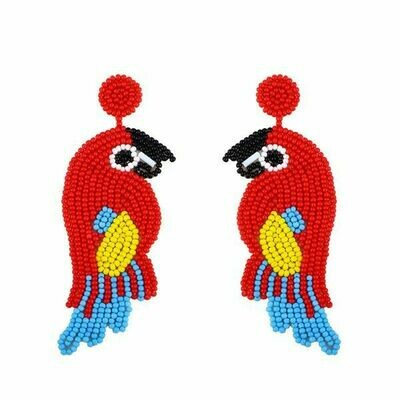 Red Parrot Earrings