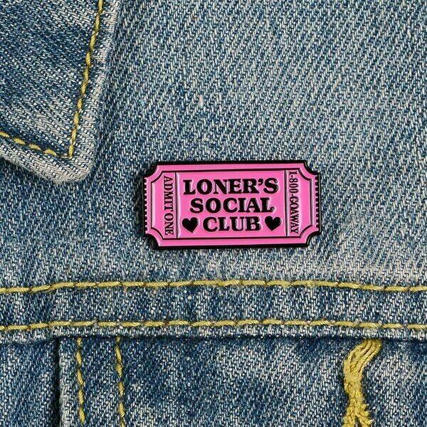 Loners Social Club Enamel Pin
