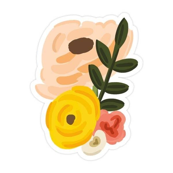 Floral Bunch Vinyl Sticker