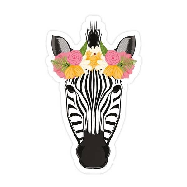 Zebra Vinyl Sticker