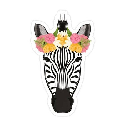 Zebra Vinyl Sticker