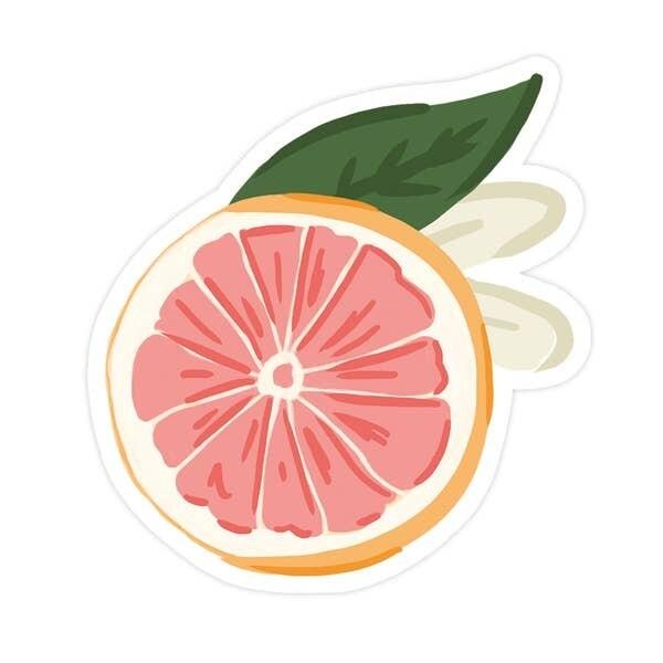 Grapefruit Vinyl Sticker