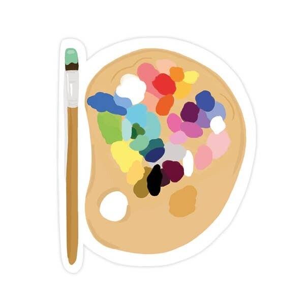 Paint Palette Vinyl Sticker