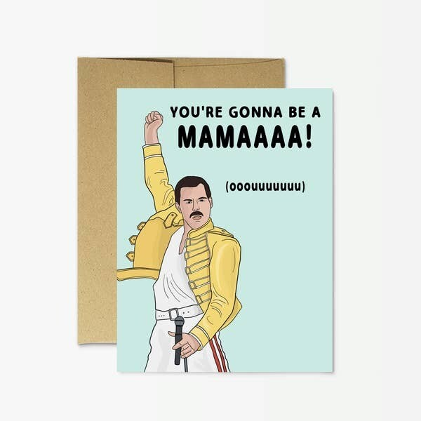 "Freddie Mercury ""New Mamma"" Card"