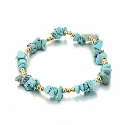 Blue Turquoise Stretch Bracelet