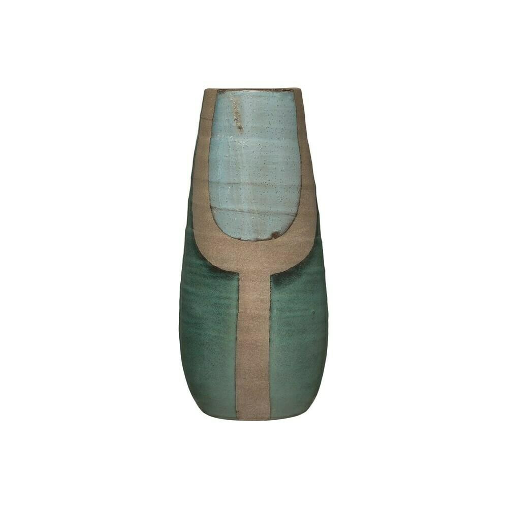 Aqua Terra-Cotta Vase
