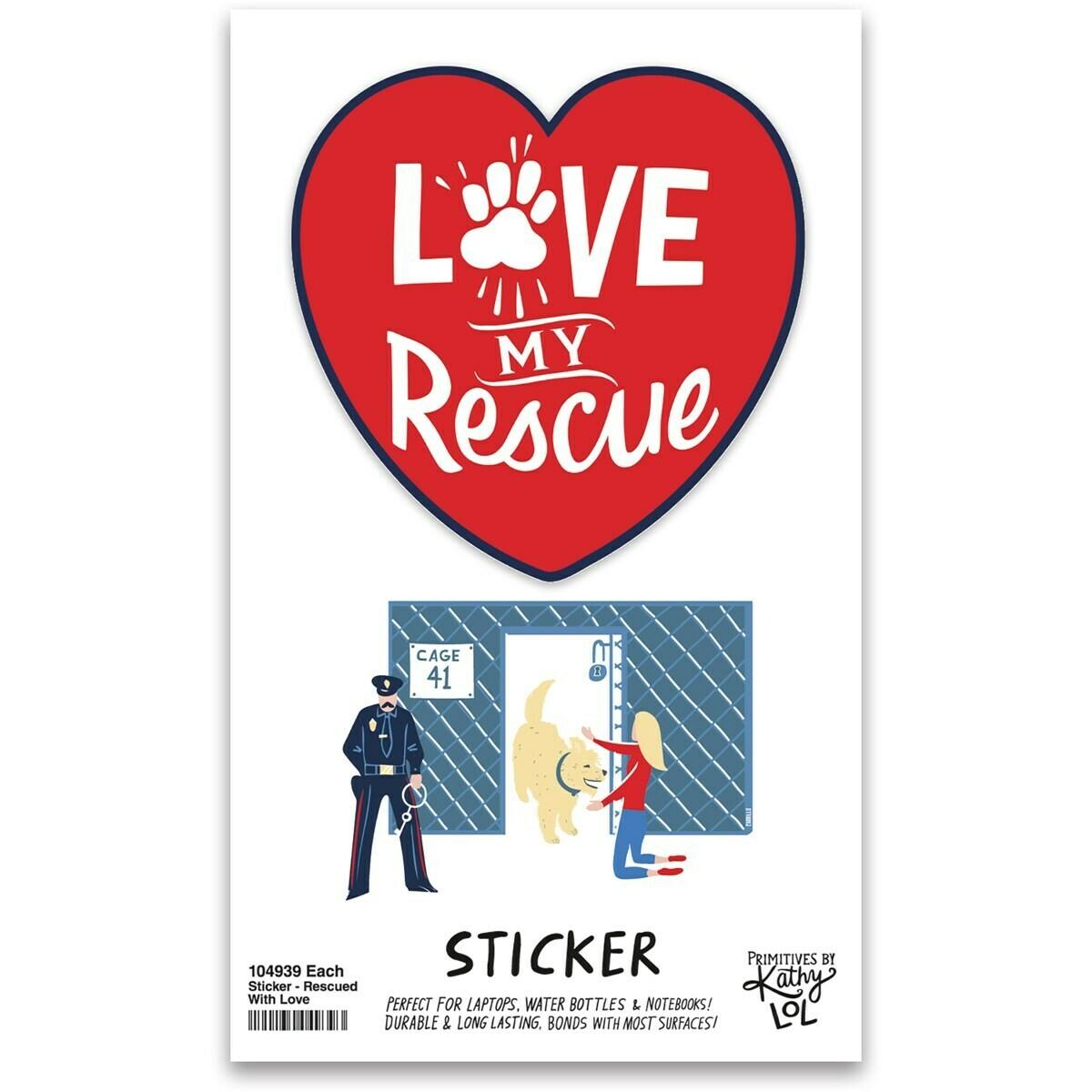 Love My Rescue Vinyl Sticker