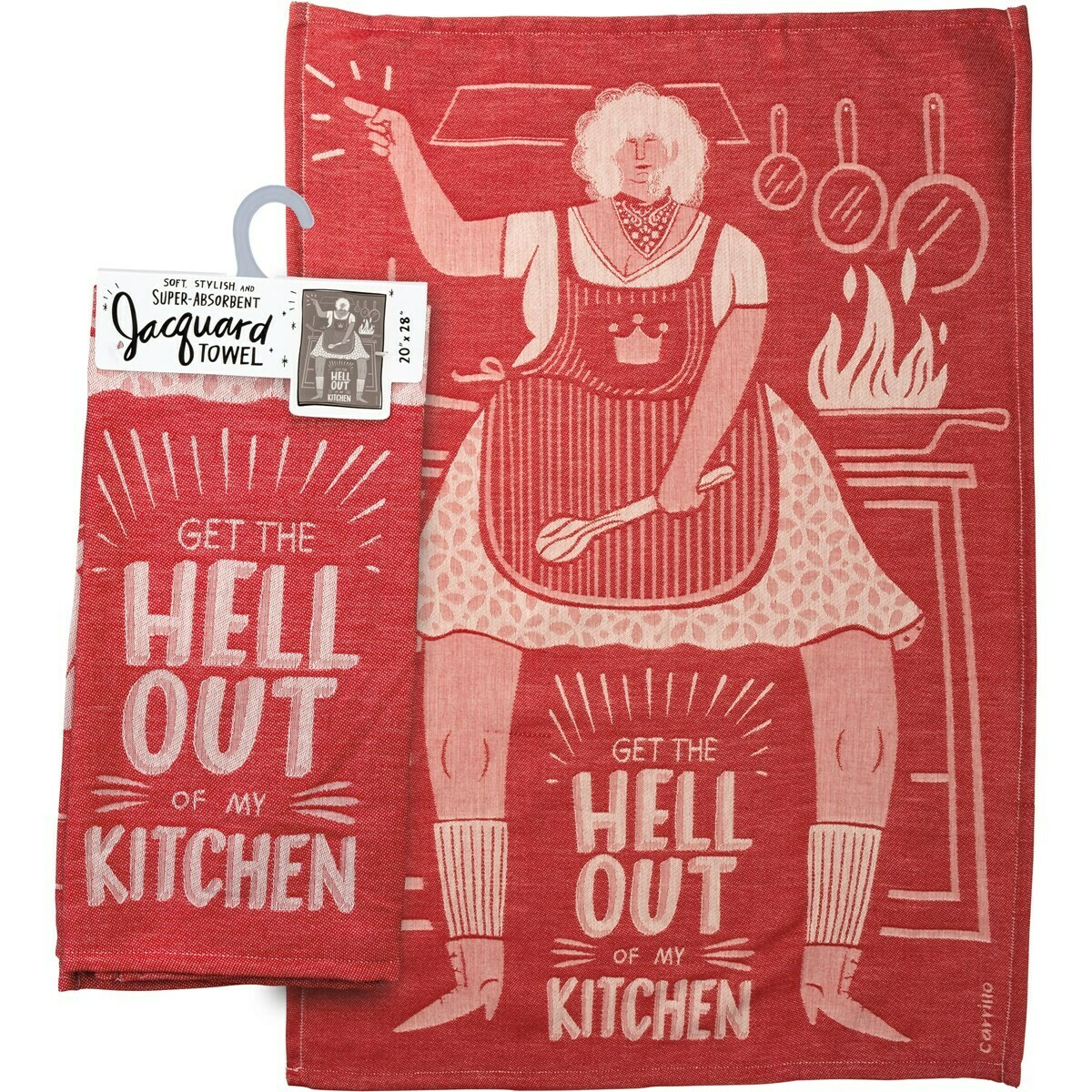 Get Out of my Kitchen Dishtowel