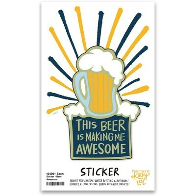This Beer Makes Me Awesome Vinyl Sticker