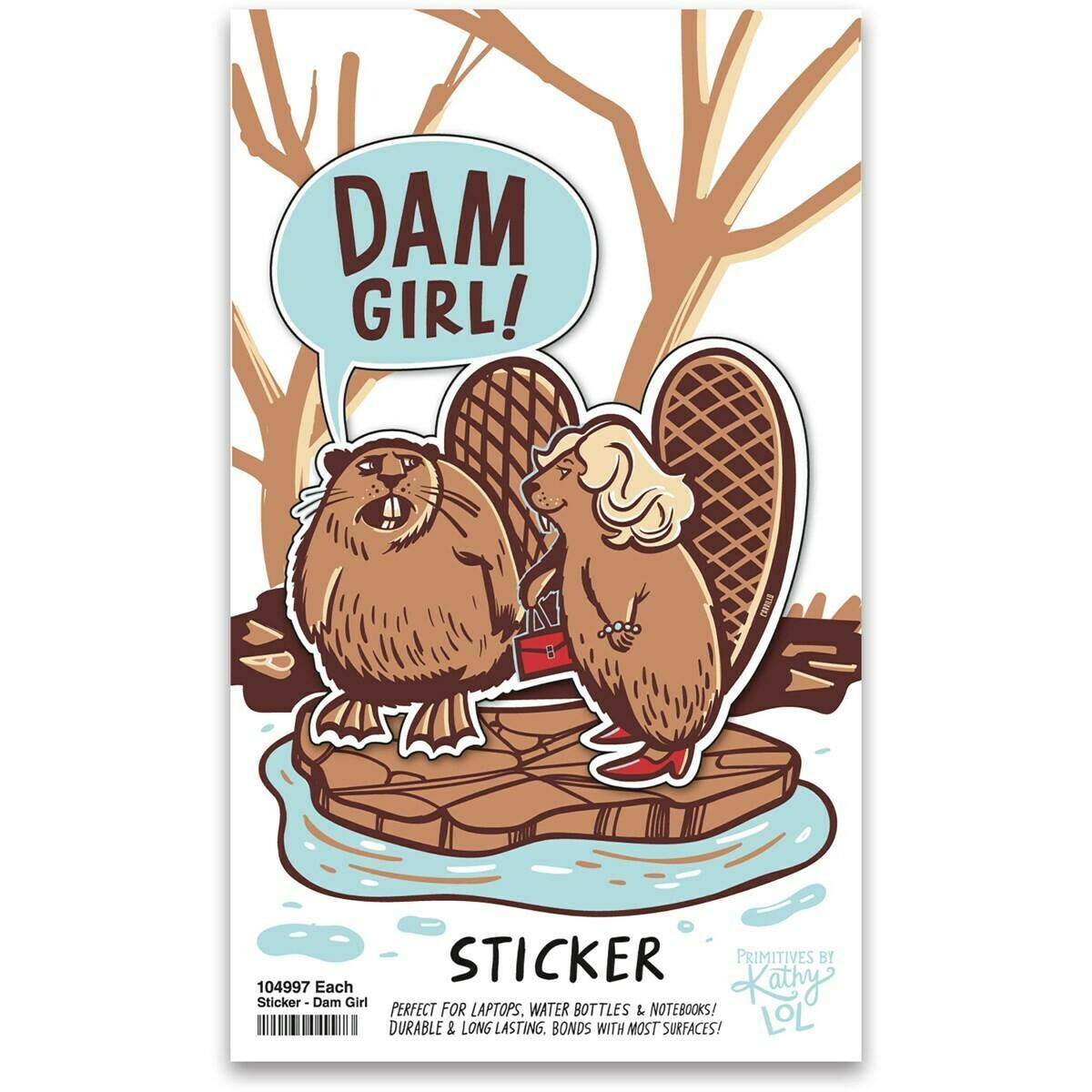 Dam Girl Vinyl Sticker