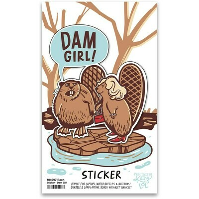 Dam Girl Vinyl Sticker