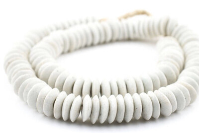 White Ashanti Beads
