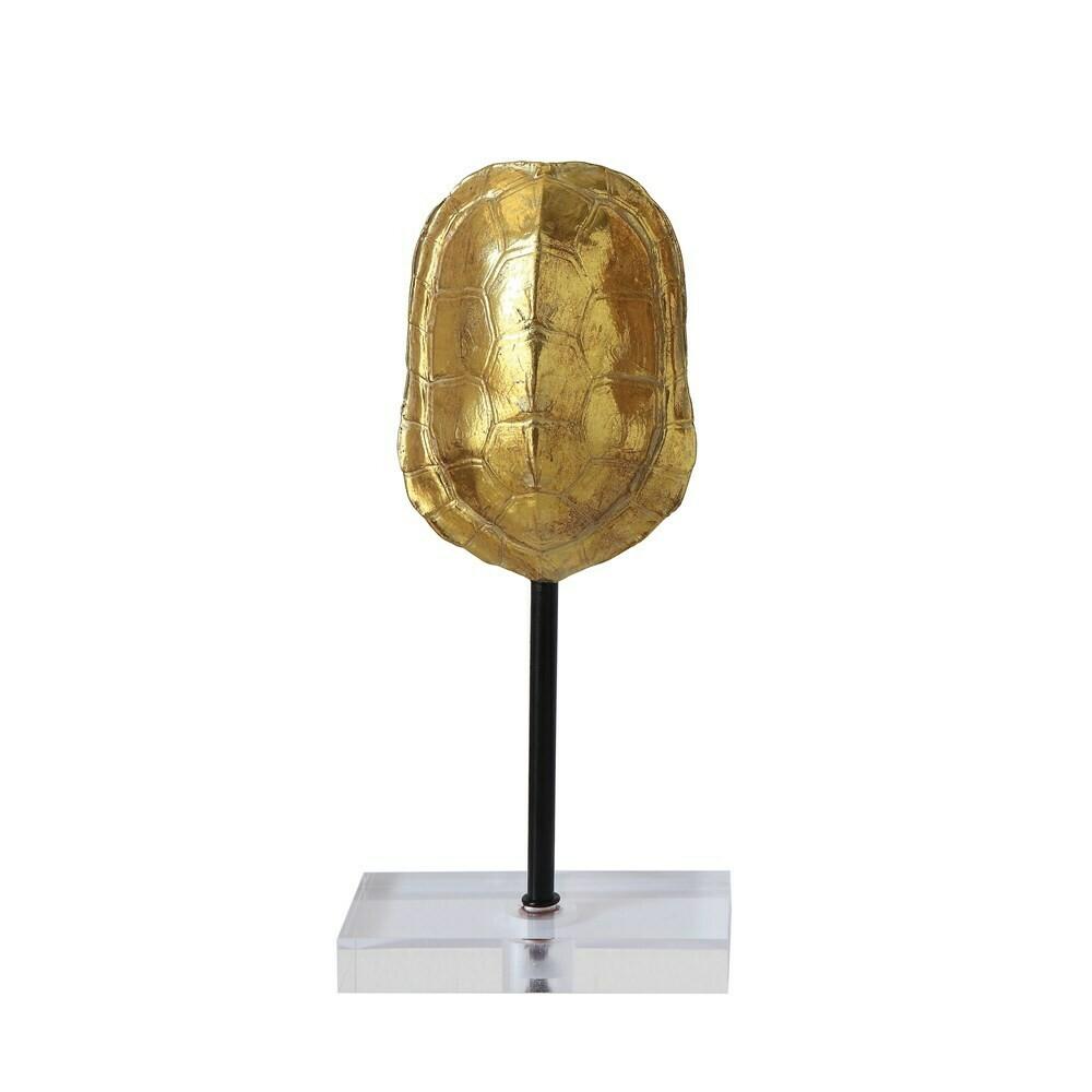 Gold Turtle Shell on Acrylic Base