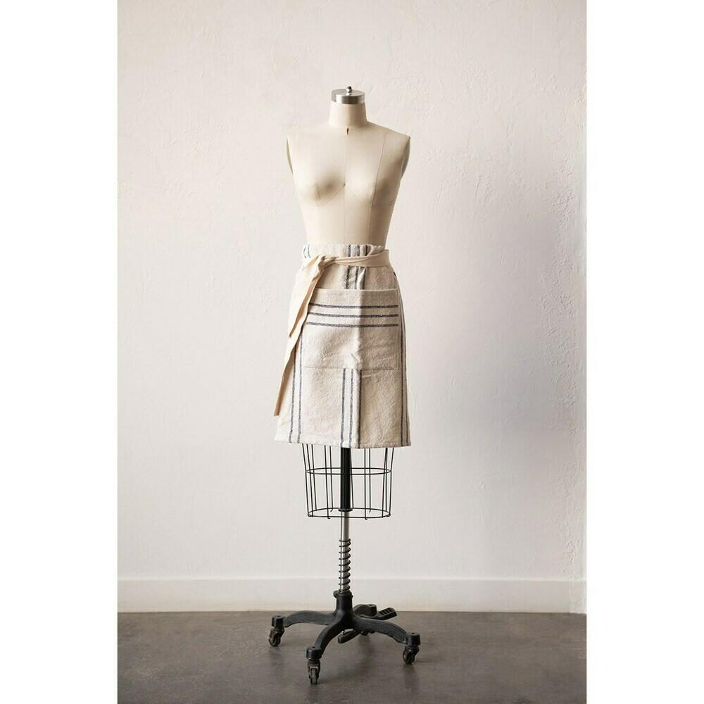 Cotton Striped Waist Apron