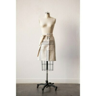 Cotton Striped Waist Apron