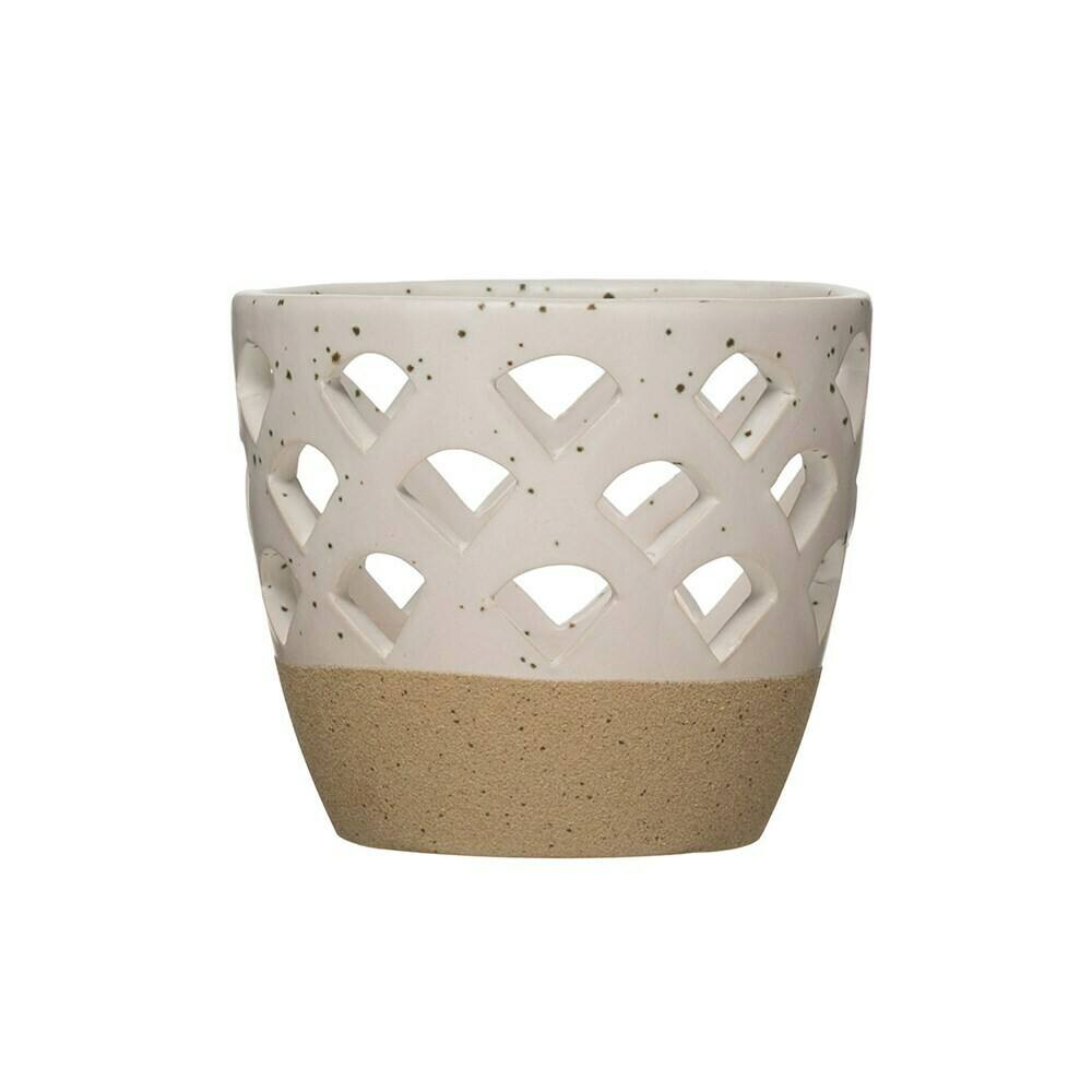 Stoneware Votive Holder